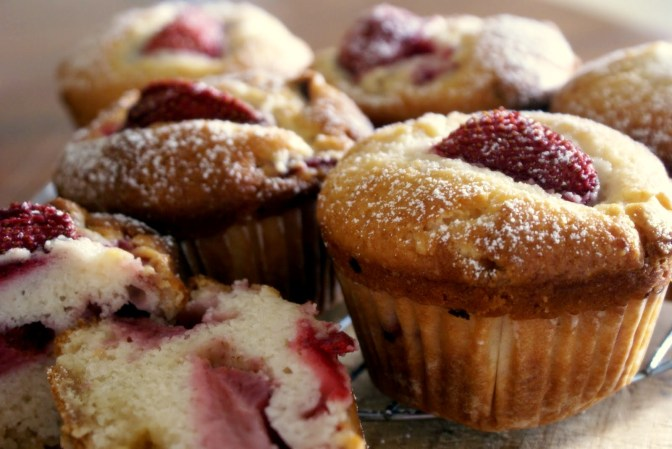 Strawberry White Chocolate Muffins
