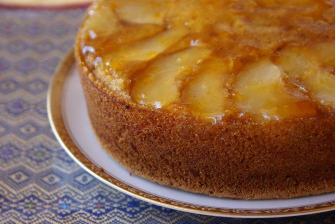 Jane's Pear Polenta Cake