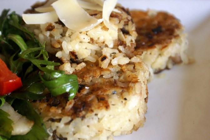 In Season – Mushroom Risotto Cakes