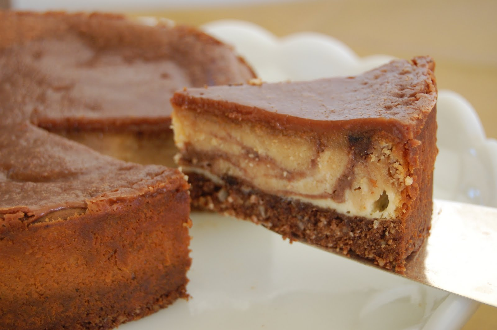 Chocolate-Peanut Butter Cheesecake With Chocolate Glaze Recipes ...