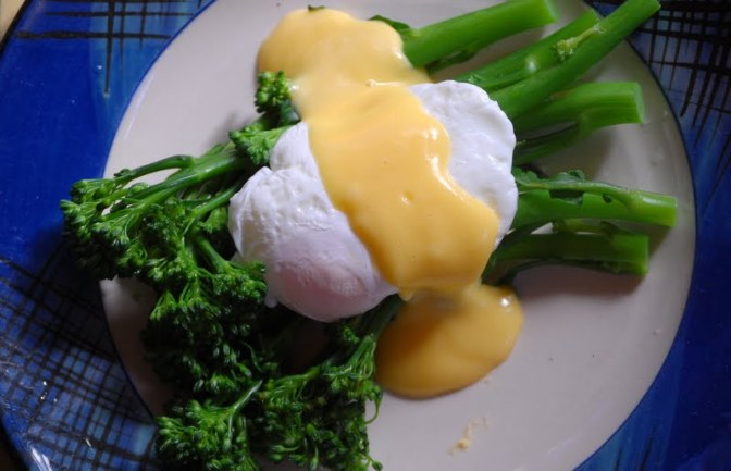 In Season – Broccolini with Hollandaise Sauce