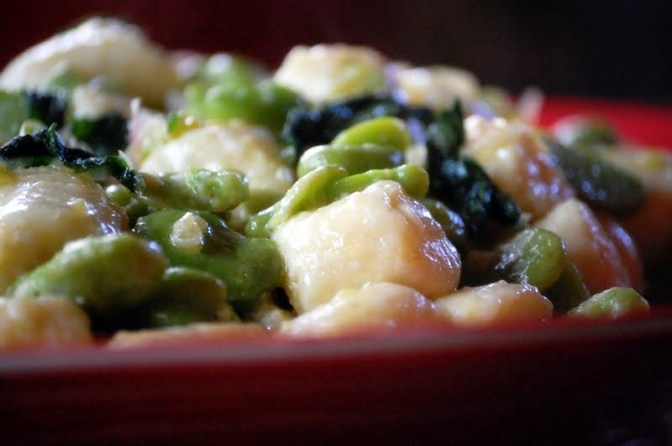 Ricotta Gnocchi with Broad Beans and Mint
