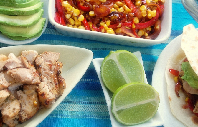 Chicken and Corn Fajitas