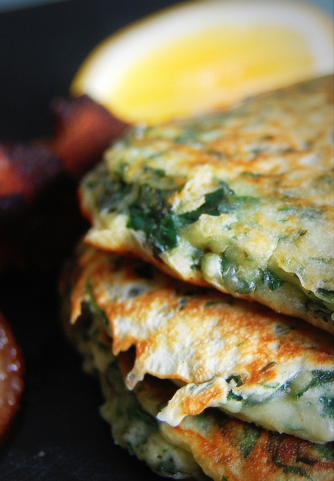 Spinach and Haloumi Pancakes 2