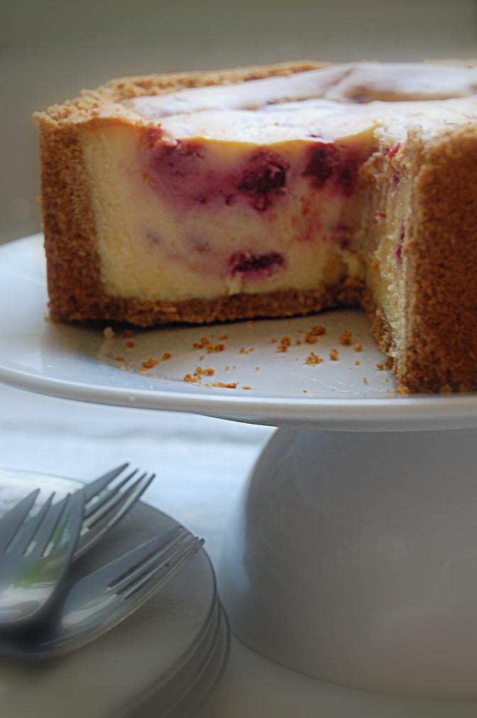 Dessert – White Chocolate and Raspberry Cheesecake