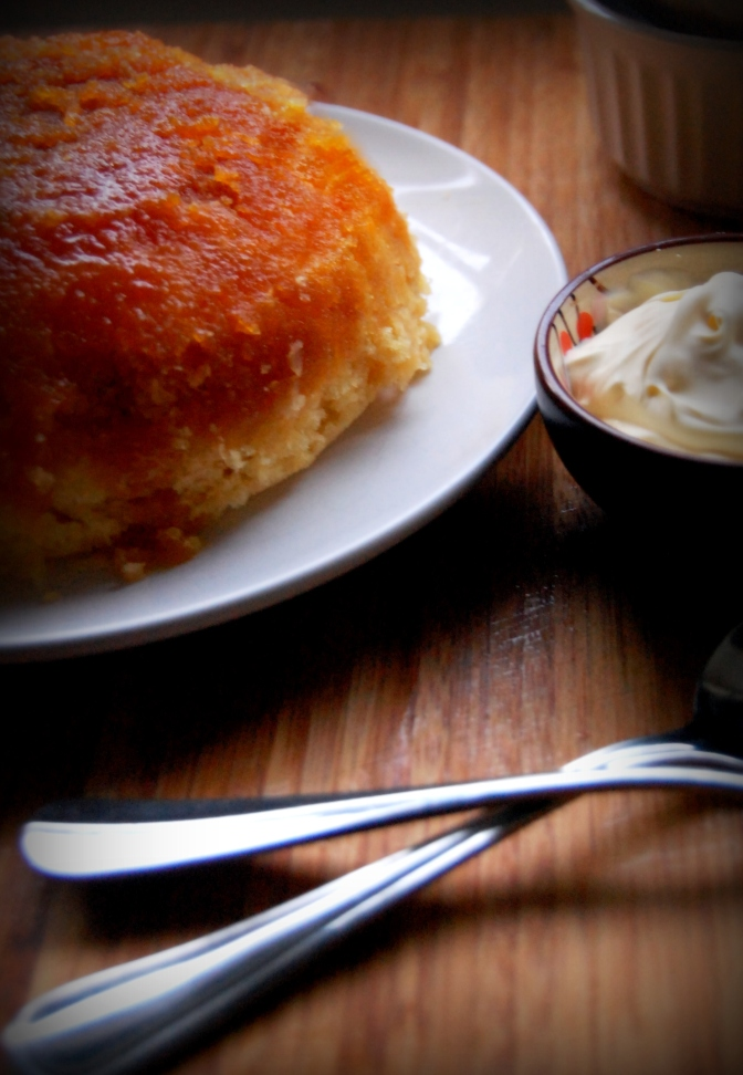 Desserts – Quick Steamed Golden Syrup Pudding